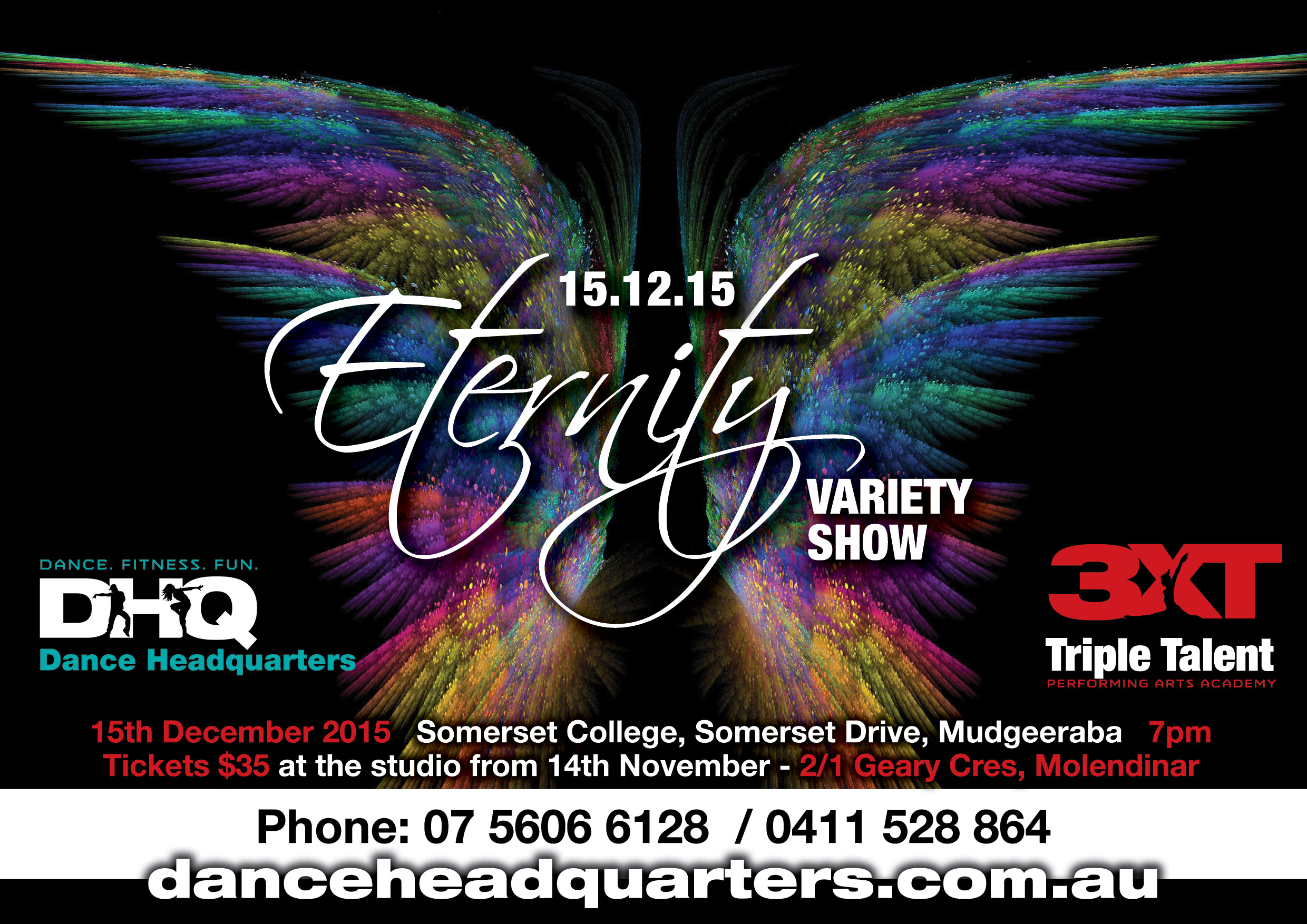 DanceHQ Eternity A5 flyer